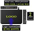1 pcs T95max-2gb-32gb Custom Made 2 anos garantia KODI Amlogic S905/S905X 64 bits caixa de metal android TV Quadcore caixas de IPTV