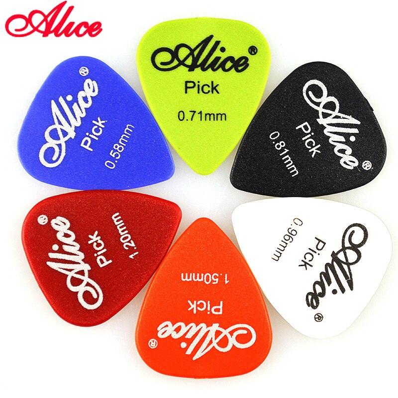 6 Pieces Alice Non-slip ABS Guitar Picks Plectrum Gauge 0.58mm 0.71mm 0.81mm 0.96mm 1.20mm 1.50mm Color Random Guitar Parts