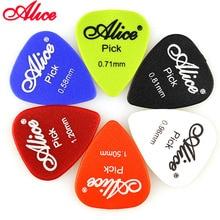 6 Pieces Alice Non-slip ABS Guitar Picks Plectrum Gauge 0.58mm 0.71mm 0.81mm 0.96mm 1.20mm 1.50mm Color Random Parts