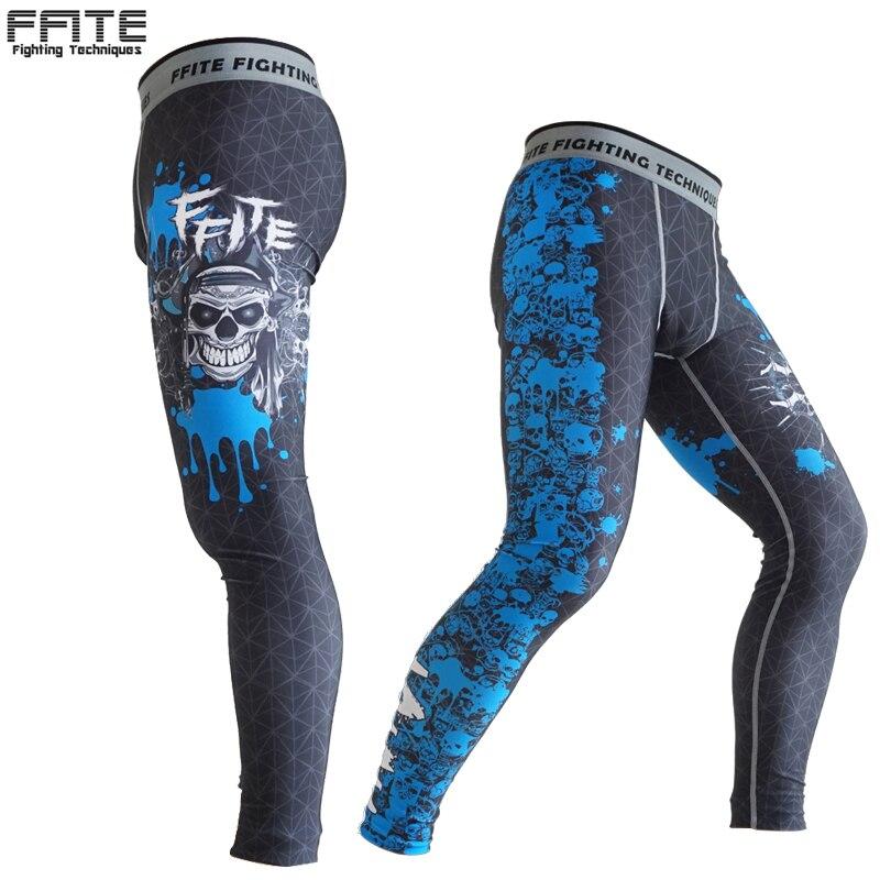 Mens Compression Pants skinny pants Trousers wolf muay thai shorts sports leggings fitness Sweatpants mma rashguard Camouflage cut and sew skinny sweatpants