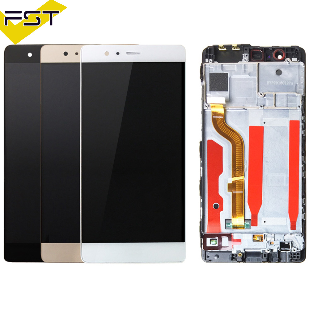 For Huawei P9 LCD Display Touch Screen Digitizer Assembly With Frame Replacement Parts Assembly 5.2 For Huawei P9 LCD ScreenFor Huawei P9 LCD Display Touch Screen Digitizer Assembly With Frame Replacement Parts Assembly 5.2 For Huawei P9 LCD Screen