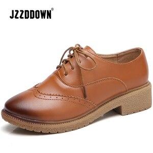 Image 2 - حذاء نسائي من JZZDDOWN حذاء أكسفورد من الجلد الأصلي للسيدات حذاء نسائي من الجلد حذاء نسائي فاخر من الجلد