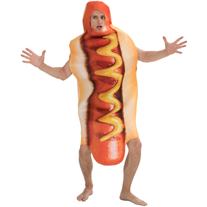 Image 3 - Mens Funny 3D Print Sausage Jumpsuit Food Hot Dog Costumes Kids Halloween Costume Adult Festival Family Matching Fancy Dress