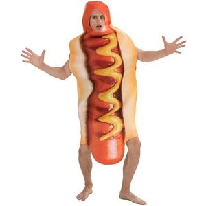 Image 2 - Mono de salchicha con estampado 3D divertido para hombre, disfraces de comida para perros calientes, disfraz de Halloween para niños, Festival para adultos, vestido de fantasía a juego para Familia