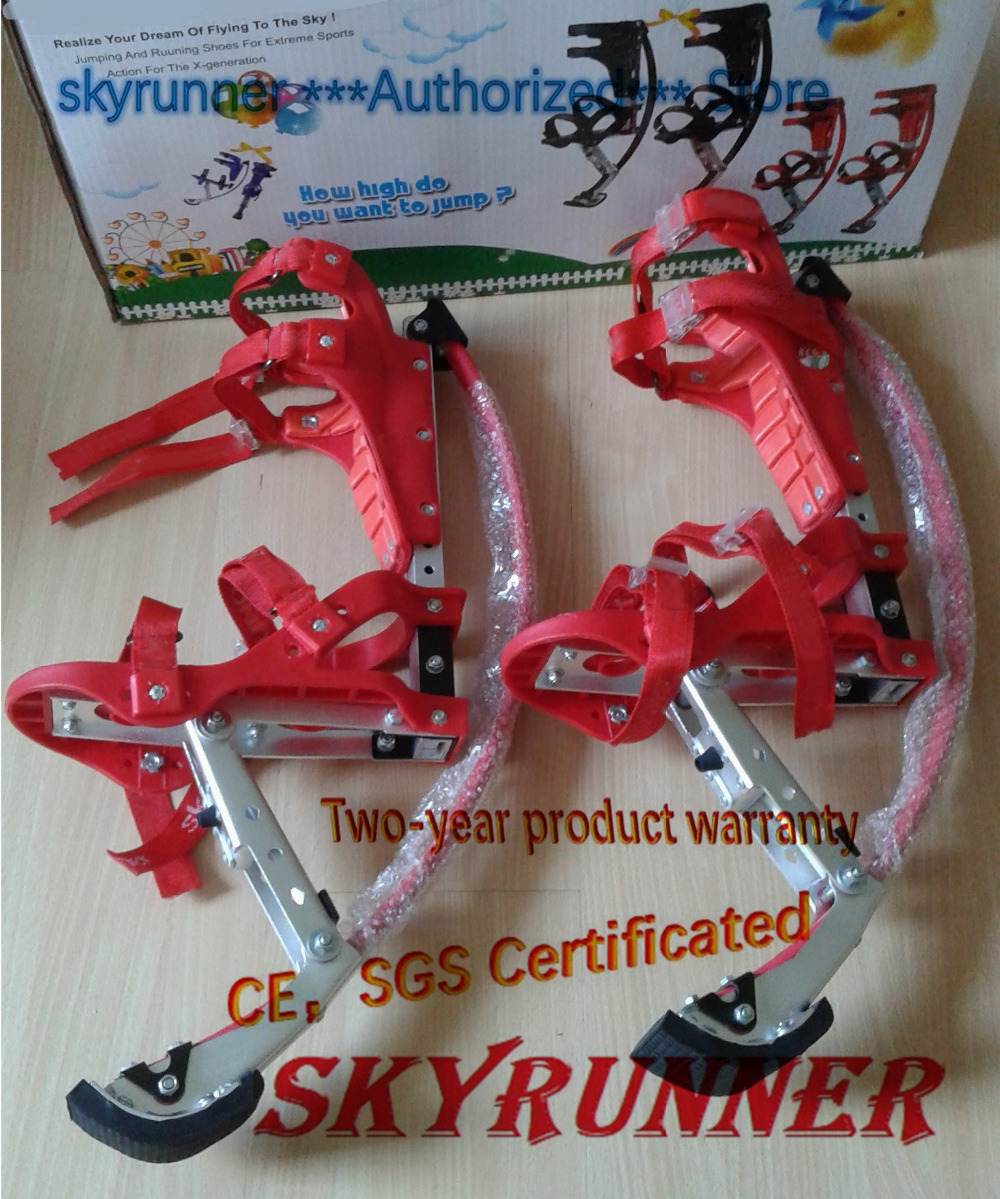 Jump Stilts Skyrunner for Boys and girls Weight is 66~110lbs/30~50kg Red High quality/Jump shoes/Flying Shoes/kangaroo jump