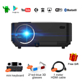 Mini Proyector LCD 2 en 1 LED Proyector Portátil + TV BOX con Android 4.4 WIFI Bluetooth 1500 Lumens Beamer Soporte DLNA Airplay