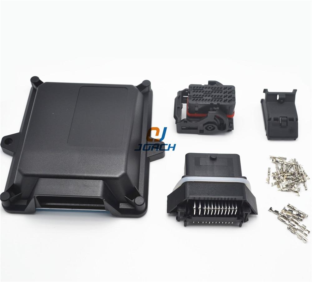 1 ensembles kits automobile en plastique 48 broches manière ecu boîtier avec connecteurs molex