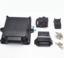 1 sets kits automotive plastic 48 pin way ecu enclosure box with molex connectors
