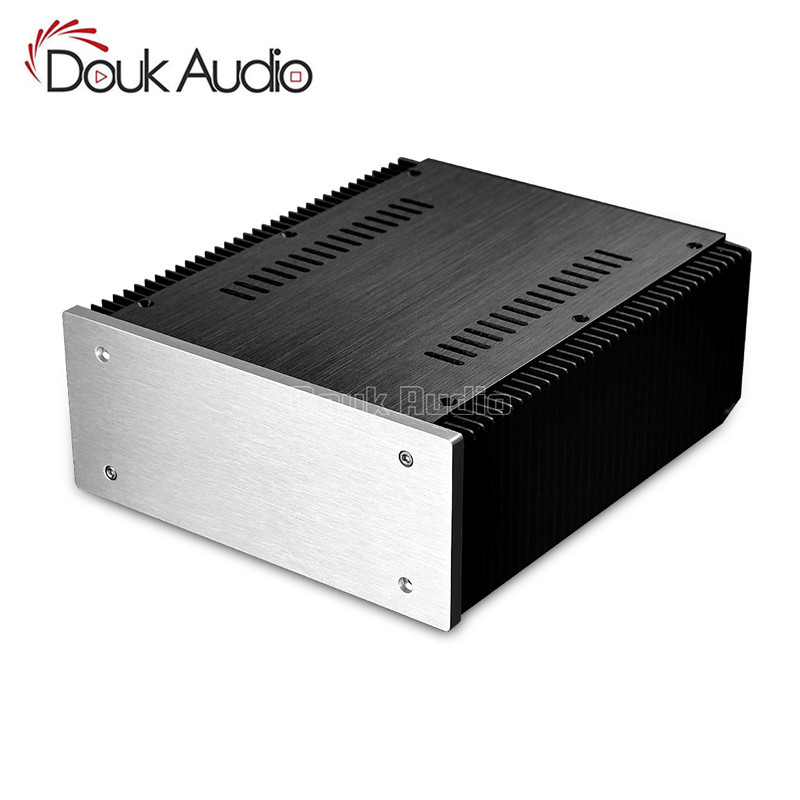 Douk Audio DIY Aluminum Enclosure DAC Case Cabinet Amplifier Chassis New (W211*H90*D257mm) douk audio front panel radiating aluminum chassis power amplifie cabinet diy case black box