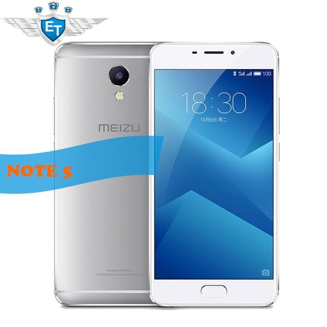 Оригинальный Meizu M5 ПРИМЕЧАНИЕ 5 Смартфон 5.5 дюймов 4 ГБ RAM 64 ГБ глобальный ROM 1080 P Helio P10 Octa core 13MP Камера 4000 мАч Быстро заряда