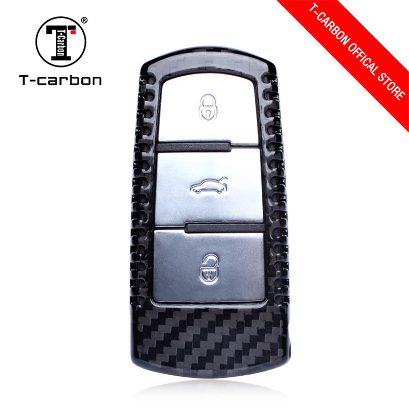 Carbon Fiber Car Styling Key Case Cover For Volkswagen CC Passat B6 B7 Maogotan R36 B7L Key Cover Car Accessories For vw key gel100601 universal silicone car key cover for vw more black