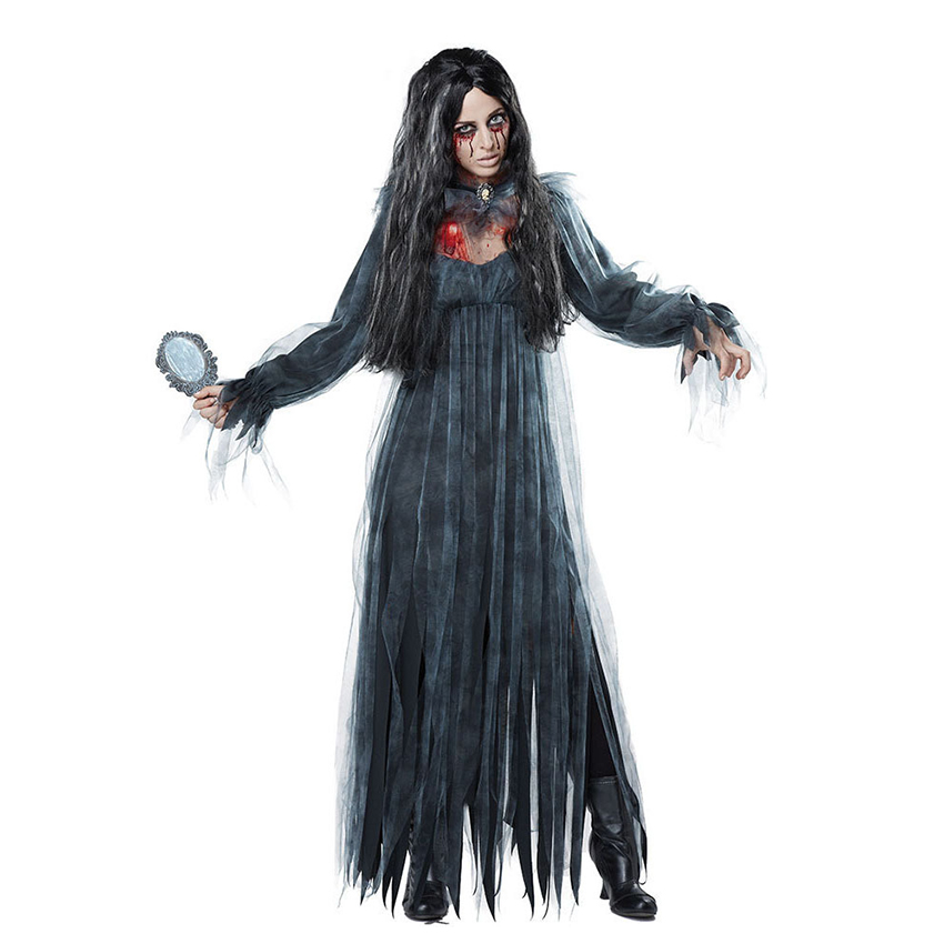 Adult Zombie Bride Dress Horror Ghost Bride Dress Halloween Costumes for Women Fancy Party Dresses Headdress Full Set in Movie TV costumes from Novelty Special Use