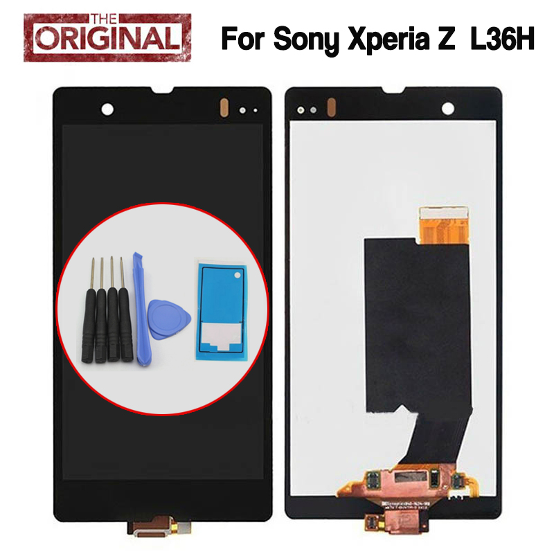 Original Replacement LCD Display For Sony Xperia Z LT36i LT36h LT36 C6603 C6602 L36H Touch Screen