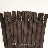 50pcs ( 12 Inch) 30 cm Coffee Nylon Coil Zippers Tailor Sewer Craft Crafter's &FGDQRS #3 Closed End