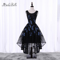 Modabelle Floral Short Cheap Homecoming Dresses 2017 Black Blue 8th Grade Prom Dresses High Low Vestidos