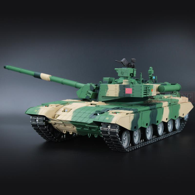 Heng Long China Army ZTZ 99A MBT 1/16 échelle 2.4 Ghz RC réservoir de bataille principal version ultime en métal avec fumée, son et canon BB