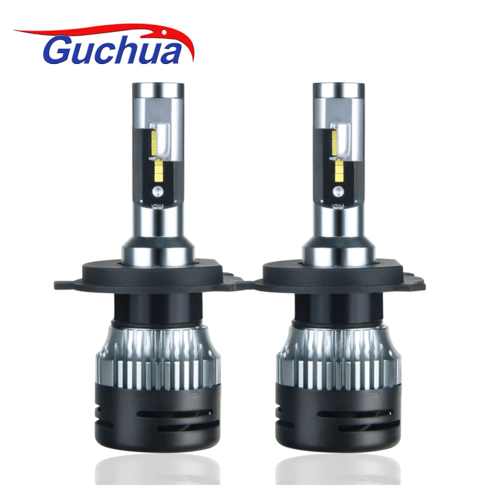 Guchua Truck 24V LED Headlight Bulbs H4 Hi/Lo H7 H11 H1 H3 H15 Super Bright 10000LM White Lamp Special for Lorry/Camion Lights