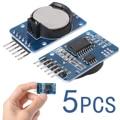 5x Pequeno Precisão Módulo DS3231 AT24C32 Atmel TE182 Em Tempo Real Módulo Relógio Para Arduino