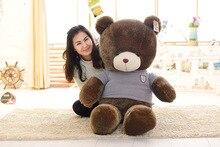 stuffed plush toy huge 160cm blue sweater brown teddy bear plush toy soft doll hugging pillow Christmas gift b1367
