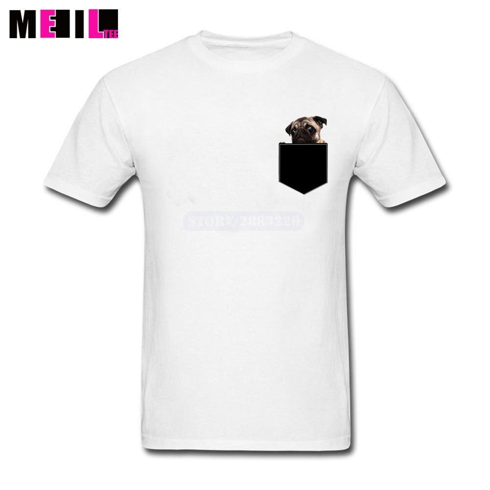 Desain t shirt unik - 3xl Pug Kemeja Tee Saku Unik Pasangan Kustom Lengan Pendek Pacar S Membuat Sendiri T Shirt