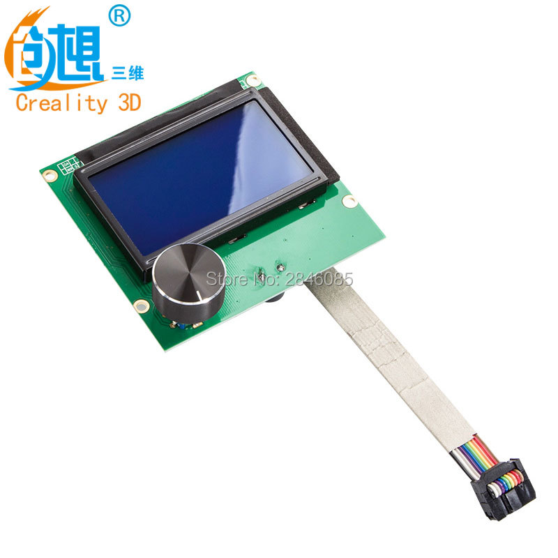 1Pcs CREALITY 3D printer Parts controller RAMPS 1.4 LCD 12864 control panel blue screen+Cable For CREALITY Ender-3 3D Printer цена 2017
