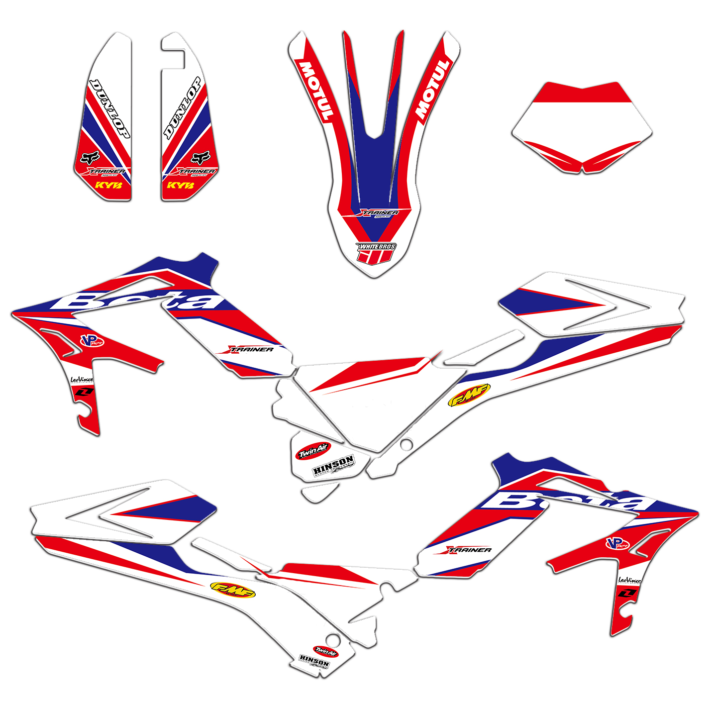 New Style Team Graphics Decal Sticker Deco For Beta X TRAINER XTRAINER 250 300 350 400