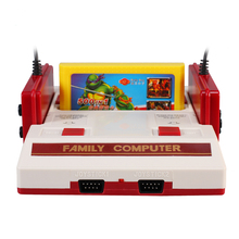POWKIDDY 8 bit TV Game Player Classic Red White games Video Game Console Yellow Card Plug-in Card Games NTSC