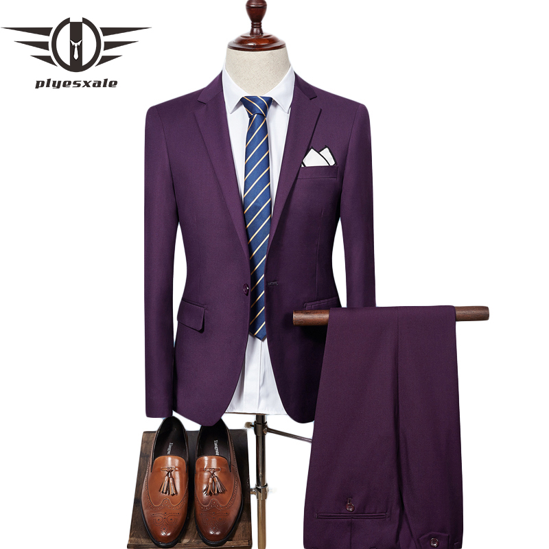 plyesxale mens suit 2018 slim fit men wedding coat pants
