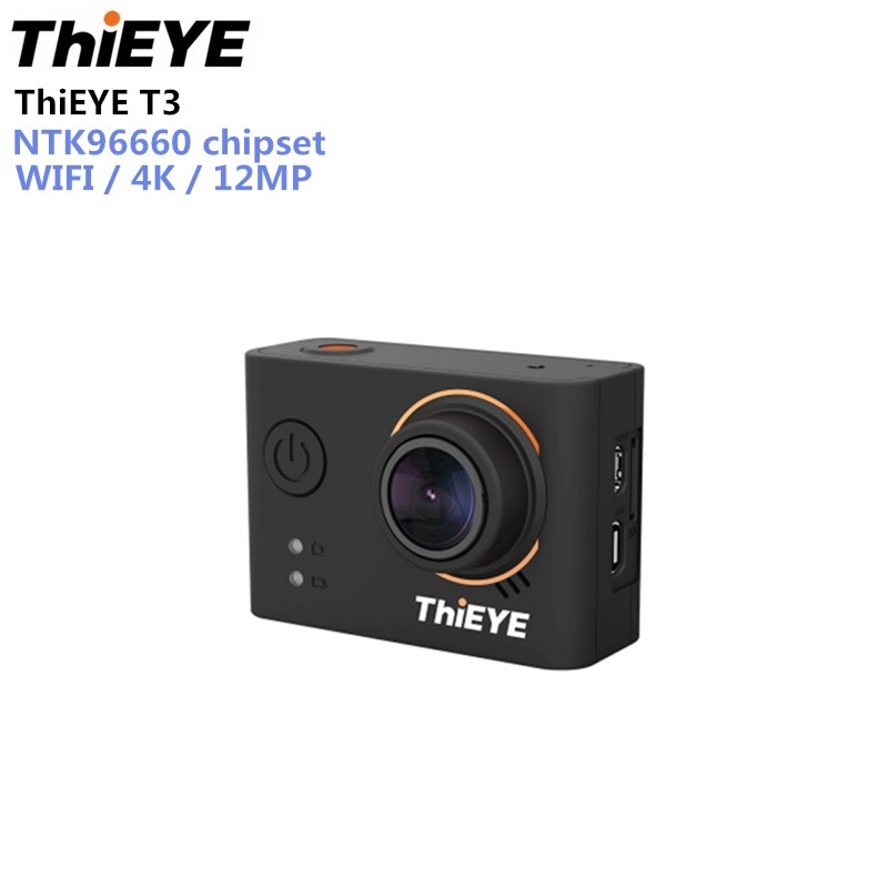 ThiEYE T3 Action Camera WiFi Ultra HD 4K 24fps 12MP Sports Camera 2 inch NTK96660 chipset IP68 TFT LCD Touch Screen 1080P Sports