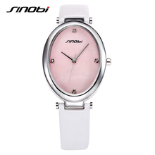SINOBI Gown Vogue Pretend Diamond Clock Girl Workplace Informal Leather-based Band Girls Watches Date Elegant Waterproof Relogio Feminino