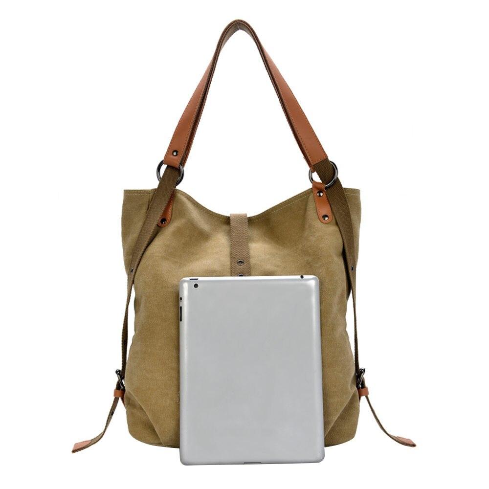 Female Handbag Lady Girls Casual Canvas Handbag Shoulder Bag Multifunctional Messenger Bag