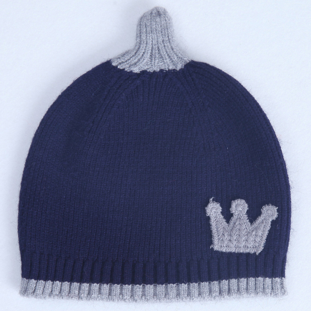 Autumn Winter cute baby hat Baby Boys Girls Kids Crown Pattern Hat Children  Knitting Warm Hats Cap touca infantil 1 4T drop shop-in Hats   Caps from  Mother ... f5afcdee00a
