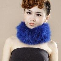 Natural fox fur ring autumn and winter genuine fur fox ring, fur collars casual fashion knit warm fur fox scarf H155