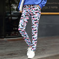 2017 Spring Summer Women Camouflage Strsight Pants Plus size Thin Costume wear Big size Colorful harem Hip Hop Dance Pants
