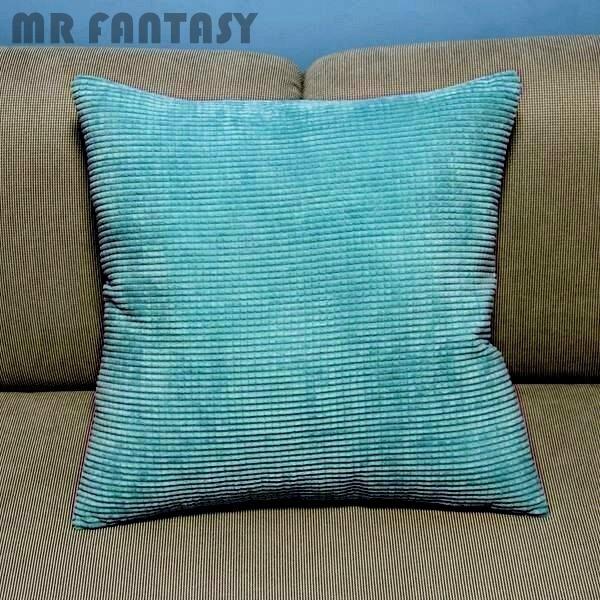 1Pcs Corduroy Corn kernels Pillow Case Home Office Sofa Soft Decor Cushion Cover Square 43cm 17 Lake Blue High Quality PT160
