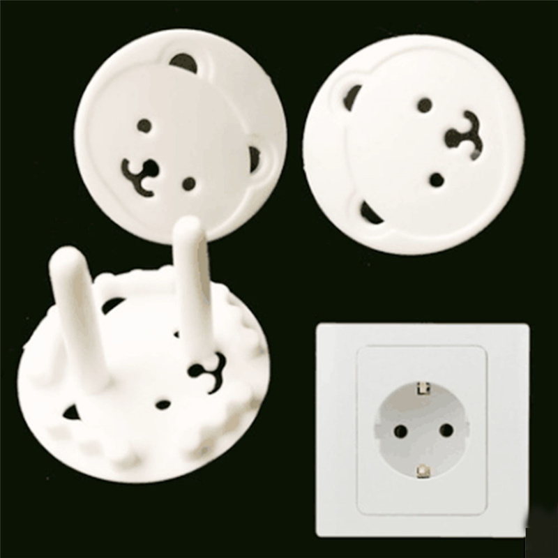 Bear Anti Electric Power Socket Electrical Outlet Cover Protection Kids Baby Safety Anti Electric Shock Plugs Protector Cover