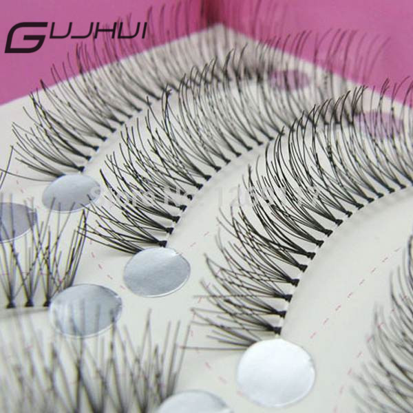 d098db75a25 GUJHUI 10Pairs MakeUp Thick Long False Eyelashes Natural Artificial Fake  Eye Lashes Transparent Stem Reusable Stage Makeup cwSqL-in False Eyelashes  from ...