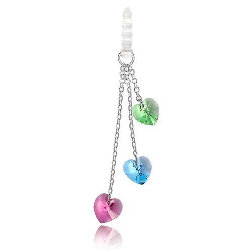 Fashion Crystal Mobile Phone Strap Made With SWA Elements Mobile Charms # 89707