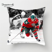 Fuwatacchi NHL Sports Painting Cushion Cover Ice Hockey Throw Pillows Cover Soft Home Car Sofa Chair Decorative Pillows Case цены