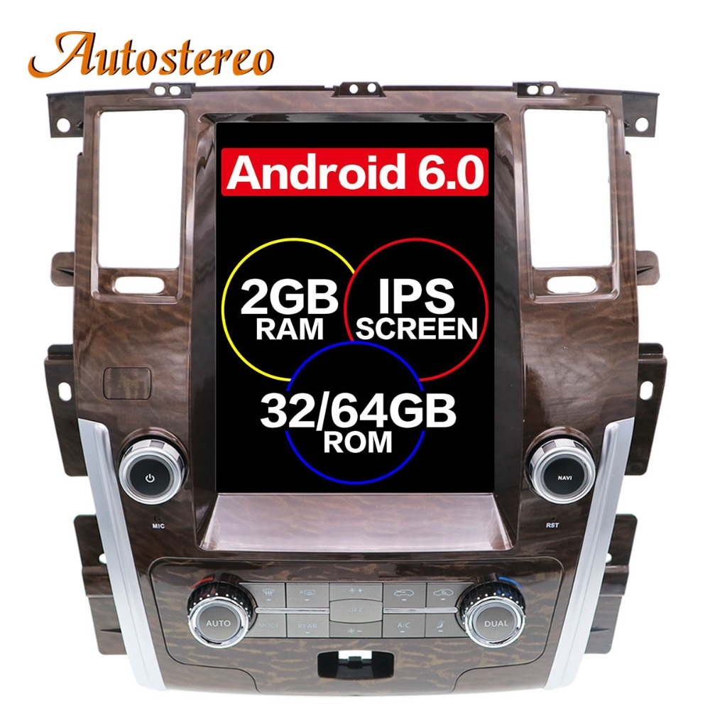 Pure Android Tesla style Car No DVD Player GPS Navigation For NISSAN PATROL 2010 stereo radio