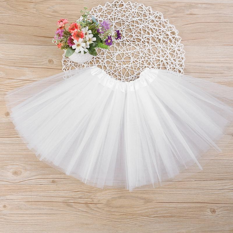0-7M Baby Girls Clothes Princess Kids Toddler Solid Color Party Ballet Dance Pettiskirt Fluffy Tulle Tutu Skirt White Pink Rose