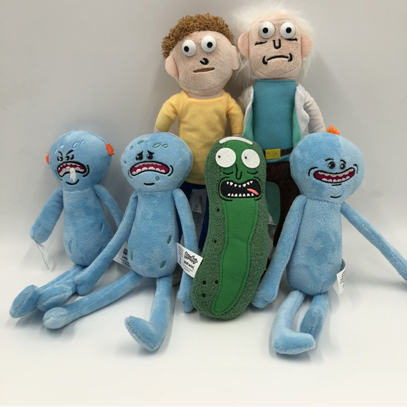 New toys! 1piece Rick Morty Pickled cucumbers stuffed doll