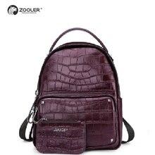 ZOOLER Brand Soft Genuine leather bag backpack women school backpacks bags for women 2018 Hot bolsos mujer D110