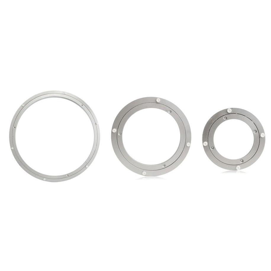 Aluminium Drehteller Lager Schwenkplatte 12 Zoll Silber Taille Und Sehnen StäRken Möbel Hardware