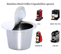 6 cups/packRefillable Nespresso Coffee Capsule StainlessSteel Reusable Nespresso Coffee Capusle nespresso compatible capsules