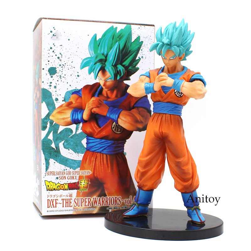 Dragon Ball SUPER DXF The Super Warriors vol.4 Super Saiyan GOD SS Goku PVC Figure Collectible Model Toy 19.5cm dragon ball super original banpresto dxf the super warriors vol 4 collection figure super saiyan god super saiyan son goku