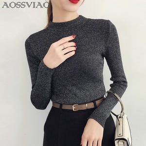 AOSSVIAO Pullover Women Sweaters Turtleneck 2018 Knit