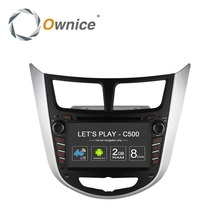 Ownice C500 Octa 8 Core Android 6.0 COCHES reproductor de DVD para Hyundai i25 accent Verna Solaris con GPS BT radio wifi 4G LTE Red