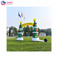 4m width artificial christmas tree archway,inflatable tree design arch christmas decorations for home