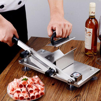 Xeoleo Household&Commercial Manual Meat Slicer Lamb/Beef Frozen Meat Cut machine Stainless steel Mutton Rolls Hand Mincer